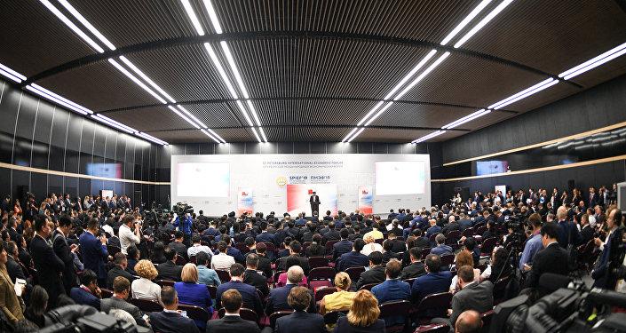 منتدى سان بطرسبورغ الدولي الاقتصادي لعام 2019
