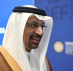 وزير الطاقة السعودي خالد الفالح في مؤتمر سان بطرسبورغ الاقتصادي