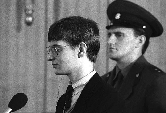 محاكمة الطيار الألماني ماتياس روست في موسكو