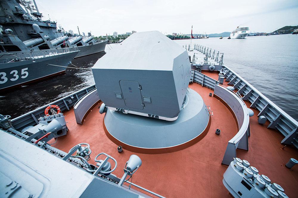 مدفع آلي أ-190 لسفينة سوفيرشينيي- قاتلة الغواصات: سفينة من طراز كورفيت التابعة لأسطول المحيط الهادئ الروسي
