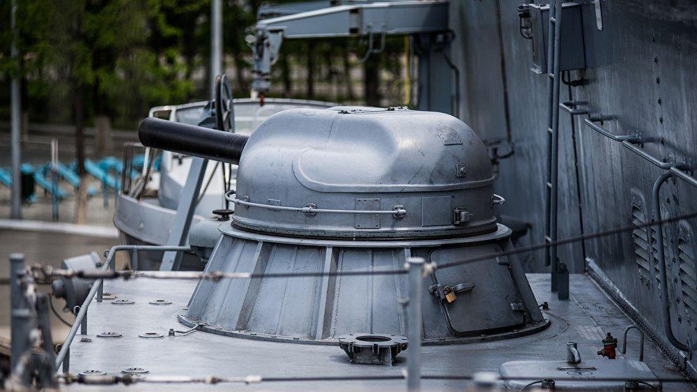 مدفع أ كا-630ام على سفينة سوفيرشينيي- قاتلة الغواصات: سفينة من طراز كورفيت التابعة لأسطول المحيط الهادئ الروسي
