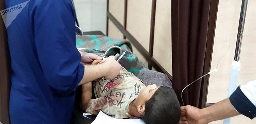 طفل مصاب في هجوم حلب