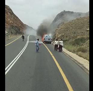 حريق في السعودية