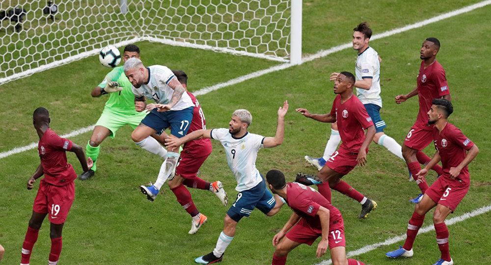 منتخب قطر أمام الأرجنتين في بطولة كوبا أمريكا