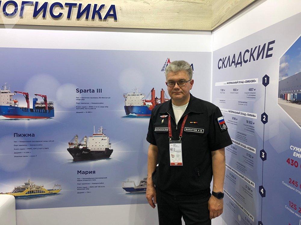 رئيس شركة أوبورون لوجيستك أنطون فيلانوف