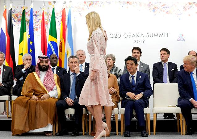 إيفانكا ترامب أمام قادة العالم في قمة العشرين في اليابان