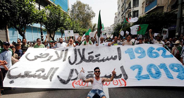 مظاهرات في الجزائر العاصمة في ذكرى الاستقلال