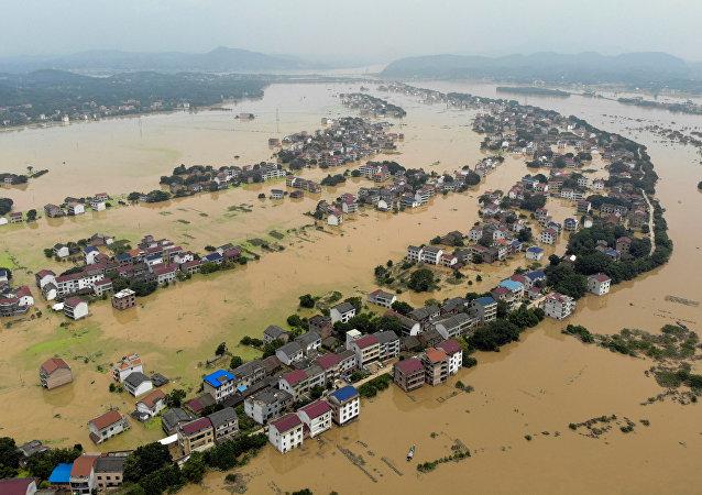 الفيضانات في الصين