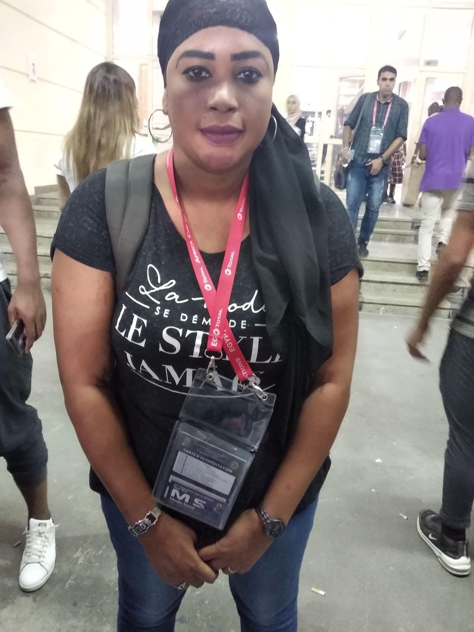 سودا ثيام  صحفية سنغالية في أمم أفريقيا 2019