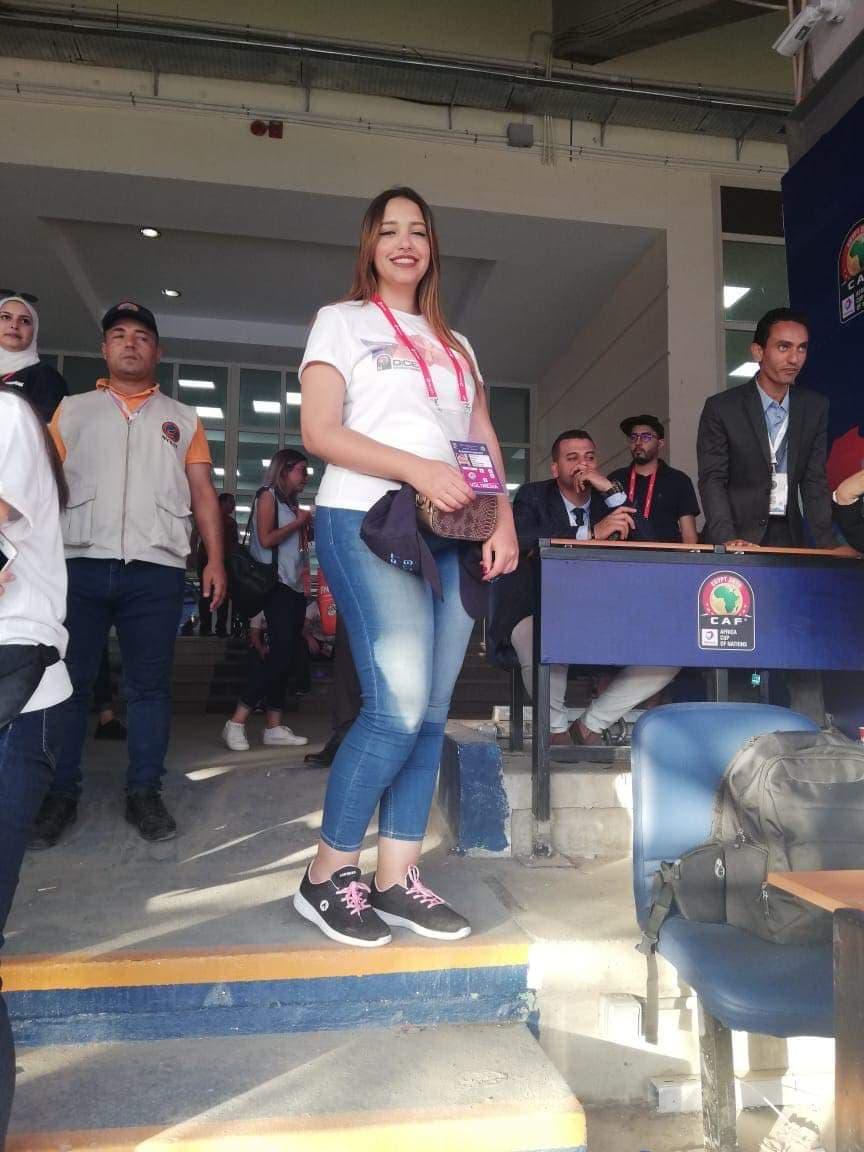 نانسي علي إحدى المتوعات في بطولة أمم أفريقيا 2019