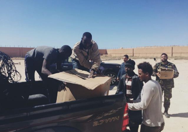 مركز الإيواء قنفودة في بنغازي