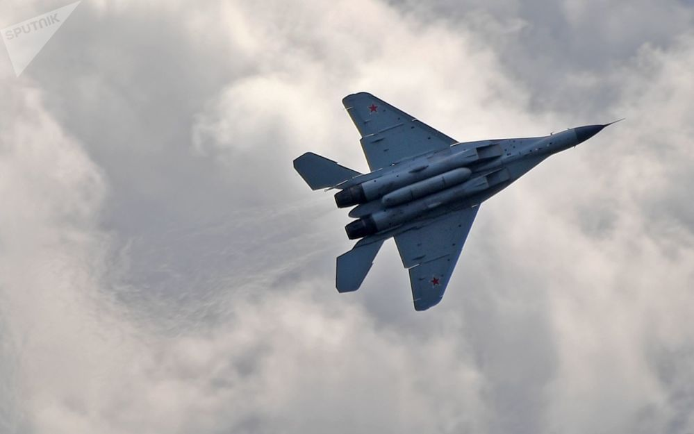 مقاتلة ميغ-35 - معرض ماكس 2019 للطيران الجوي في مطار جوكوفسكي في ضواحي موسكو، 27 أغسطس/ آب 2019