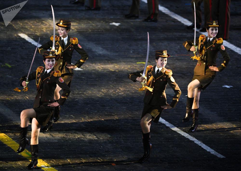 مراسم مهرجان سباسكايا باشنيا للموسيقى العسكرية على الساحة الحمراء في موسكو