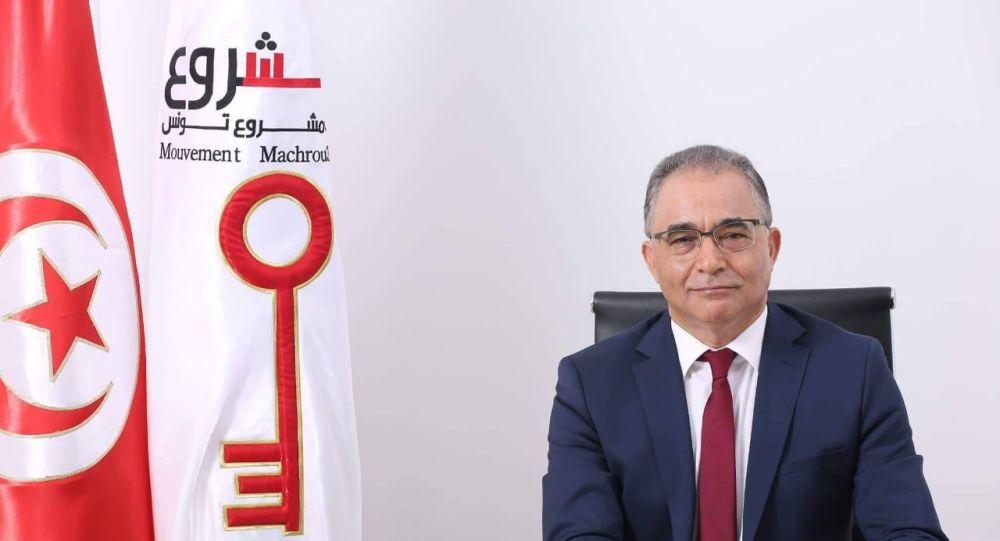 رئيس حزب مشروع تونس والمرشح للانتخابات الرئاسية محسن مرزوق