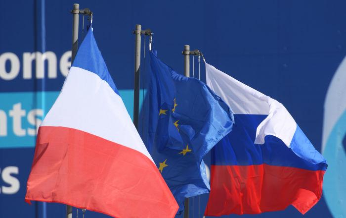 علم روسيا و فرنسا
