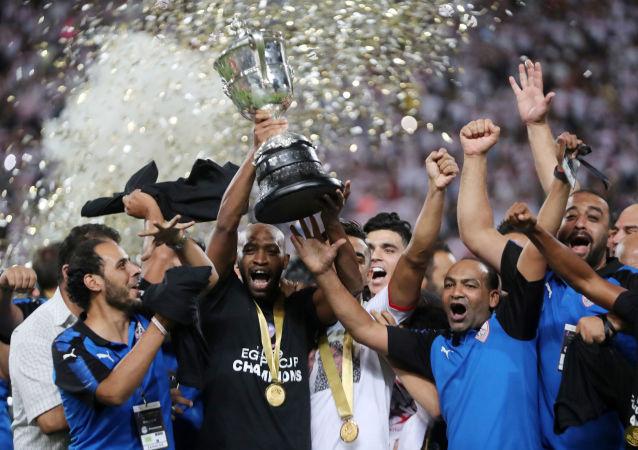 شيكابالا من مباراة نهائي كأس مصر بين الزمالك وبيراميدز