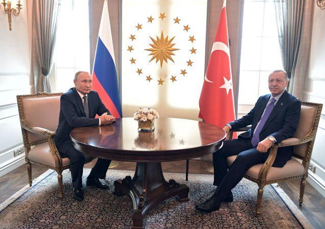 الرئيس فلاديمير بوتين والرئيس التركي رجب طيب أردوغان في أنقرة، تركيا 16 سبتمبر 2019