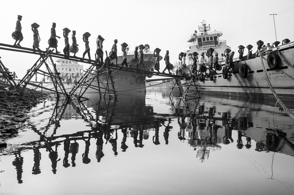 صورة بعنوان خط العمل اليومي، للمصور م يوسف توشار، الذي وصل  إلى نهائي مسابقة المصور  البيئي لعام 2019