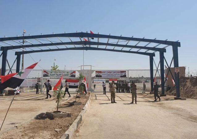 افتتاح المعبر الحدودي بين سوريا والعراق