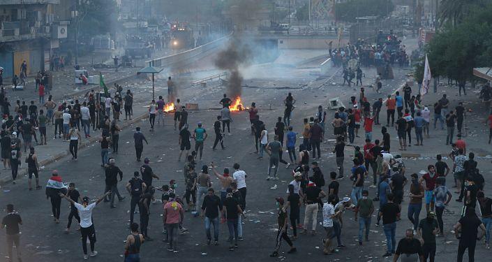 بغداد تشتعل، تظارهات، مظاهرات، بغداد، العراق 2 أكتوبر 2019