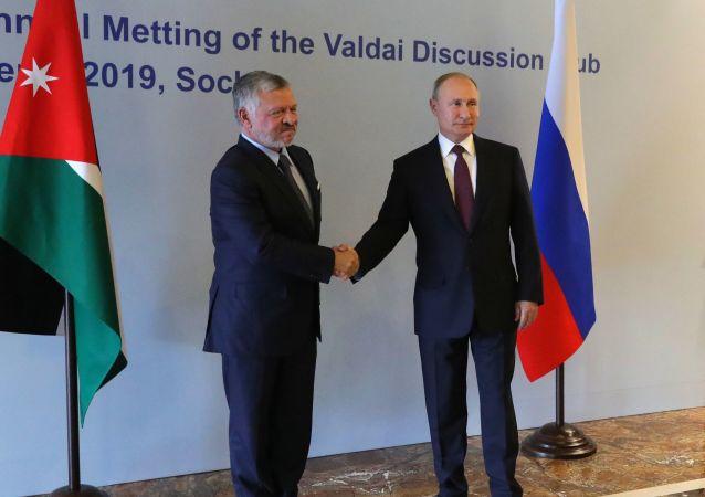 الرئيس الروسي فلاديمير بوتين يلتقي مع الملك الأردني عبدالله الثاني، 3 أكتوبر 2019