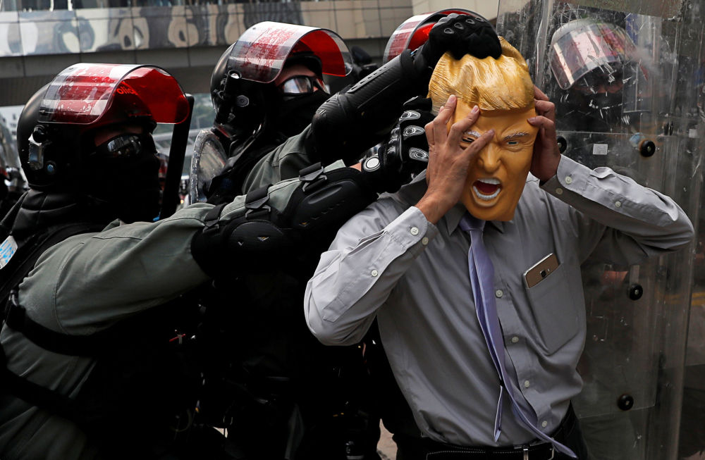 استمرار الاحتجاجات في هونغ ككونغ، الصين 29 سبتمبر 2019