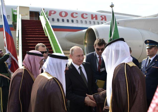 وصول الرئيس الروسي فلاديمير بوتين إلى الرياض، السعودية 14 أكتوبر 2019