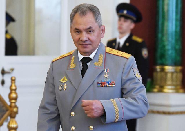وزير الدفاع الروسي سيرغي شويغو في الكرملين