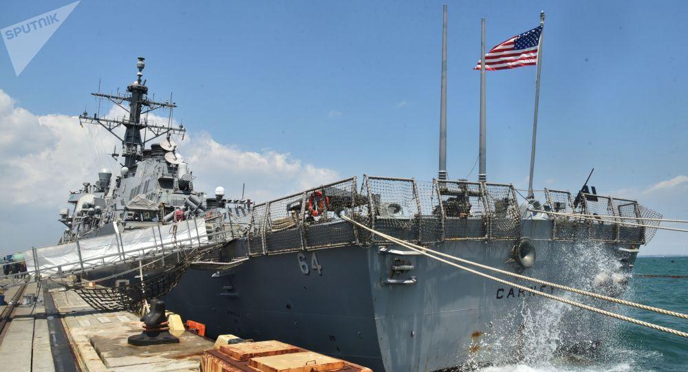سفينة حربية أمريكية في ميناء أوديسا