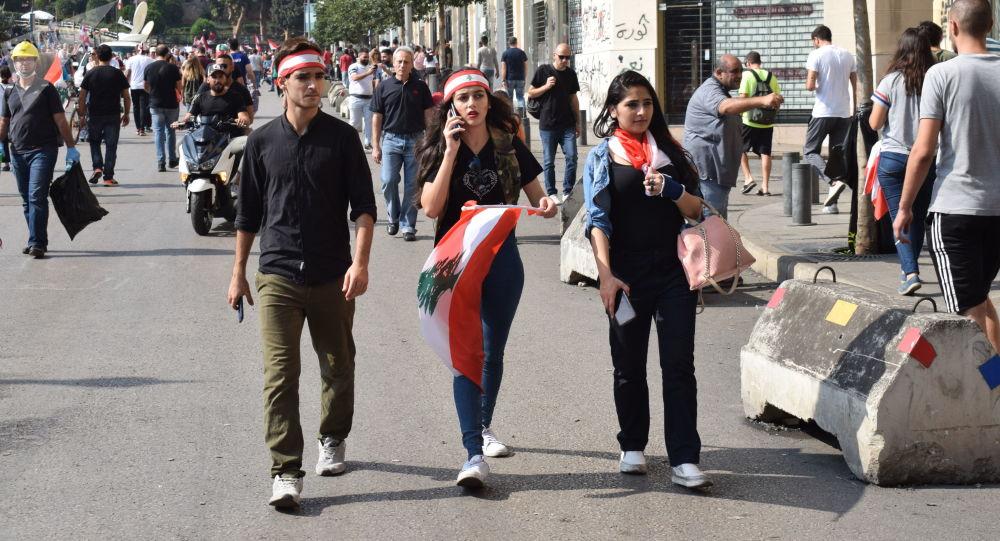 الاحتجاجات في بيروت، لبنان 21 أكتوبر 2019