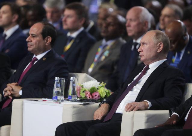 الرئيس الروسي فلاديمير بوتين والرئيس المصري عبدالفتاح السيسي