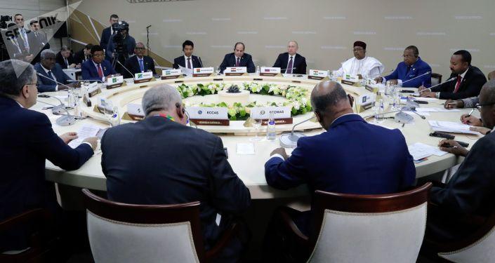 فطور العمل خلال القمة الروسية الإفريقية الأولى