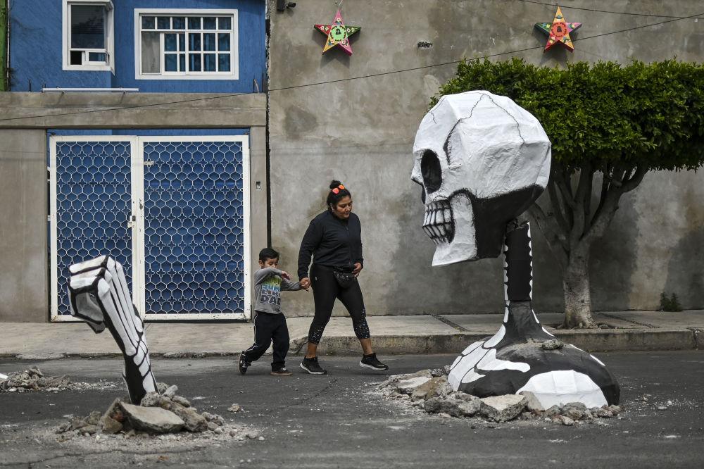 عشية احتفالات يوم الموتى في المكسيك، 28 أكتوبر 2019