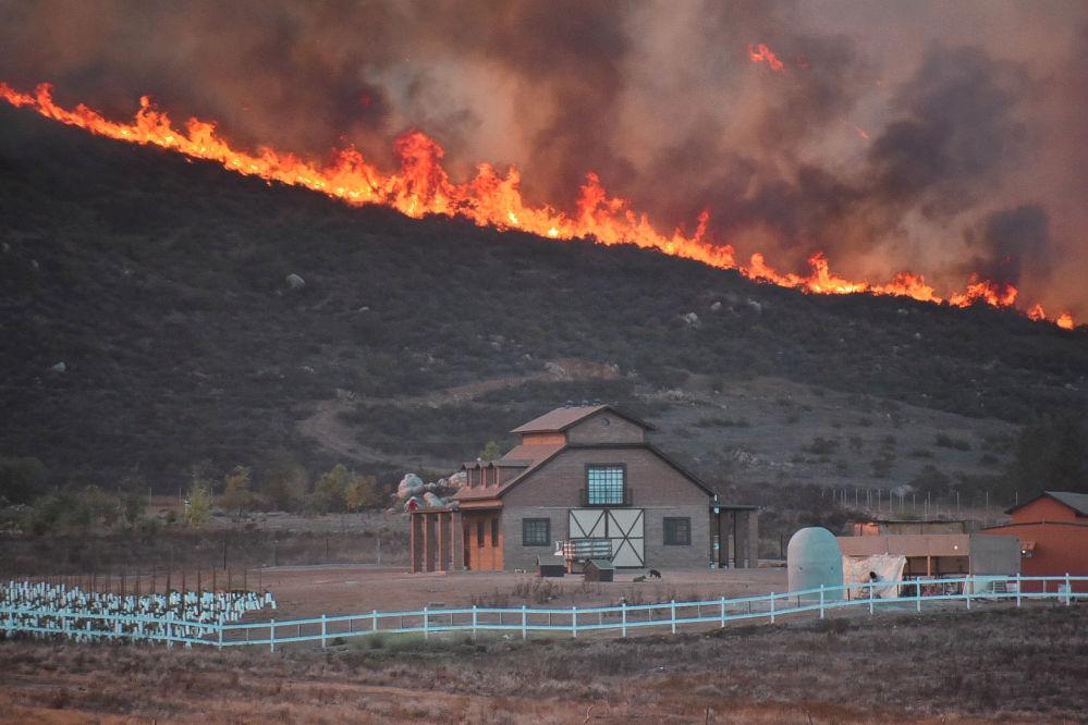 حريق فال دي غواديلوب، المكسيك 25 أكتوبر 2019