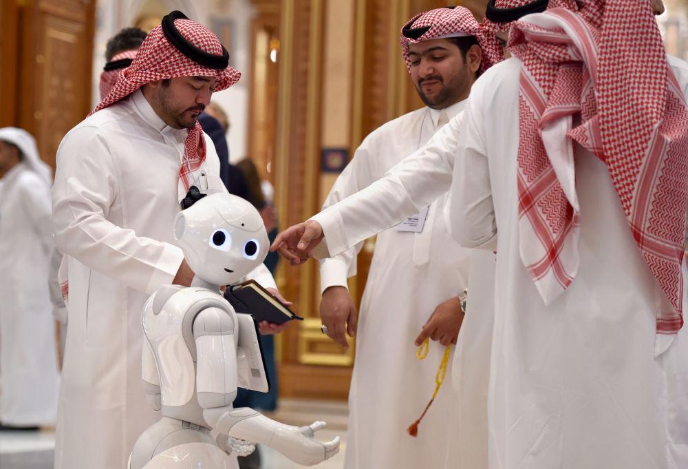 المشاركون في منتدى مبادرة مستقبل الاستثمار في قاعة المؤتمرات الملك عبدالعزيز في الرياض، المملكة العربية السعودية 30 أكتوبر 2019