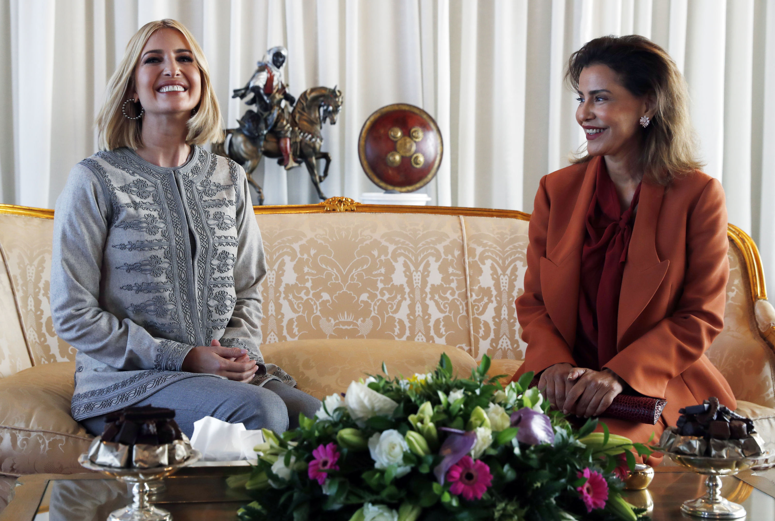 إيفانكا ترامب مع الأميرة للا مريم في المغرب
