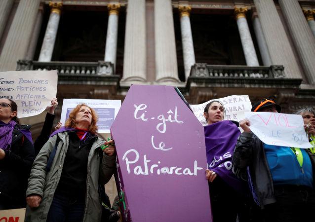 مسيرة ضد العنف الأسري في فرنسا