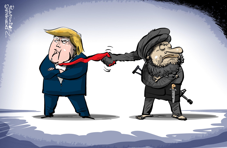 المحادثات السرية بين ترامب و طالبان