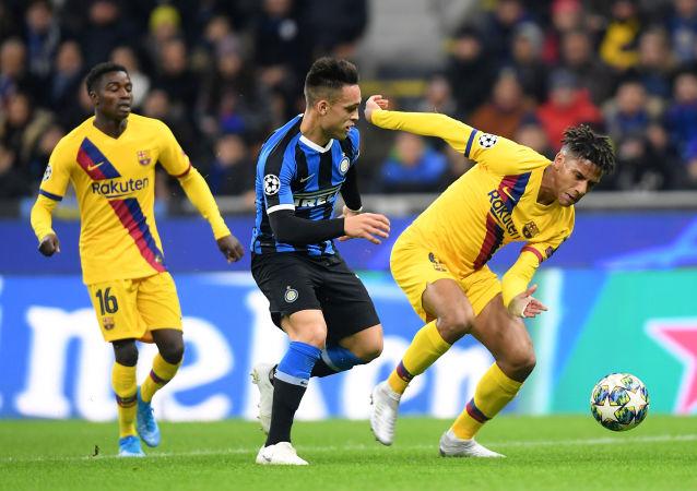 برشلونة وإنتر ميلان في دوري الأبطال
