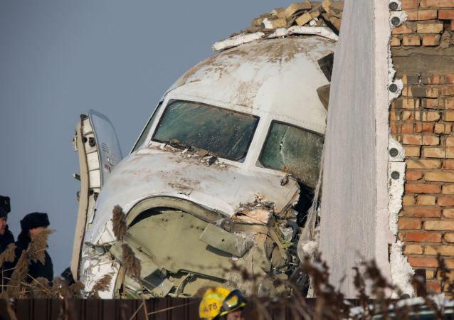 تحطم طائرة ركاب بالقرب من مدينة ألماتي في كازاخستان، 27 ديسمبر 2019