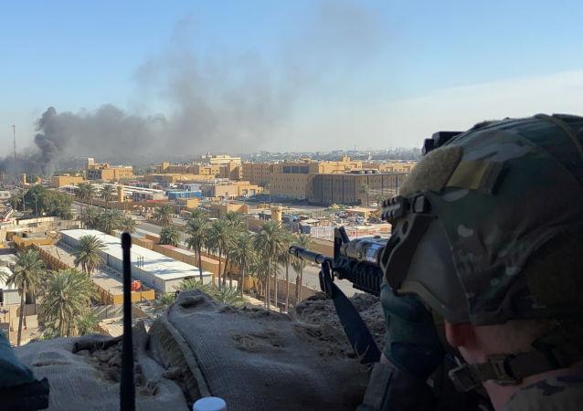 القصف الأمريكي على مقرات الحشد الشعبي في العراق