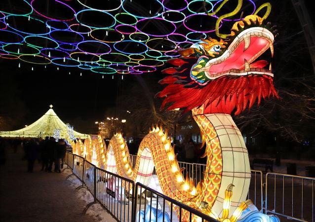 مهرجان المصابيح الصينية في موسكو