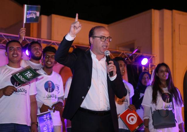 رئيس الجمهورية التونسية، قيس سعيد إلياس الفخفاخ