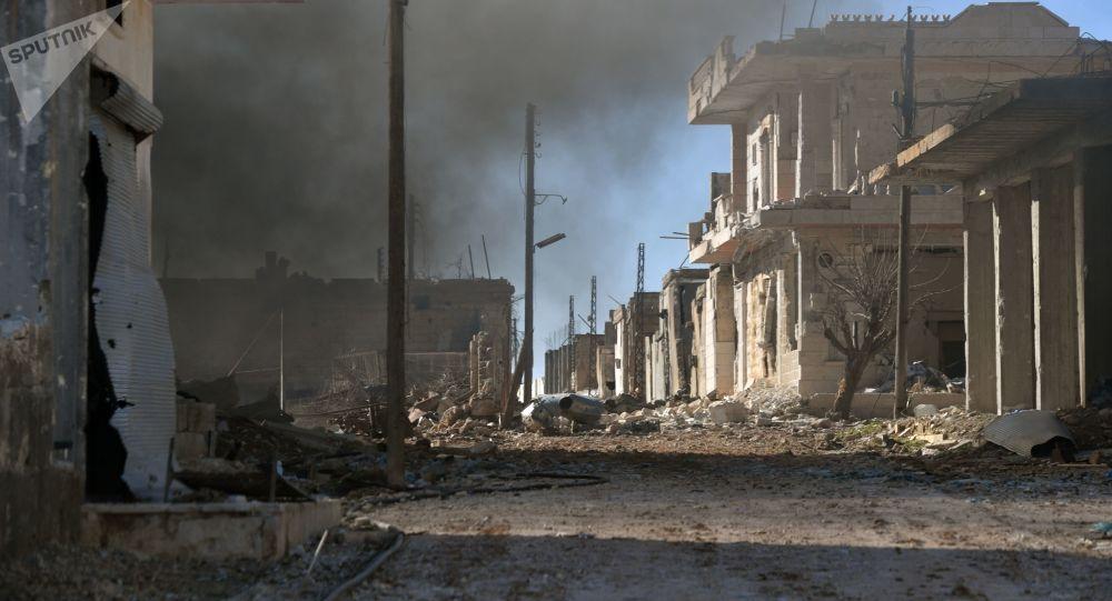 الجيش السوري في حي الدير الشرقي بعد تحريره، سوريا 25 يناير 2020