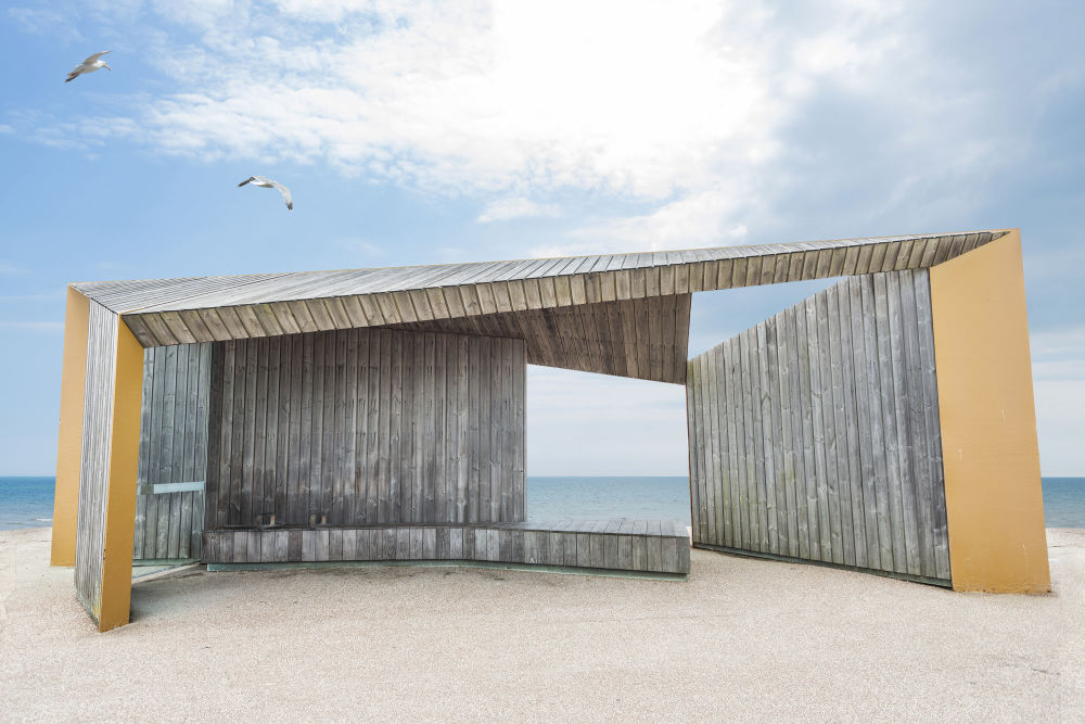 الصورة بعنوان ممشى بيكسهيل شيلتر، للمصور الإنجليزي آدم ريغين، الذي تأهل إلى نهائي مسابقة فن البناء لعام 2019