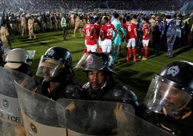أحداث الشغب في مباراة الأهلي والهلال السوداني في دوري أبطال أفريقيا