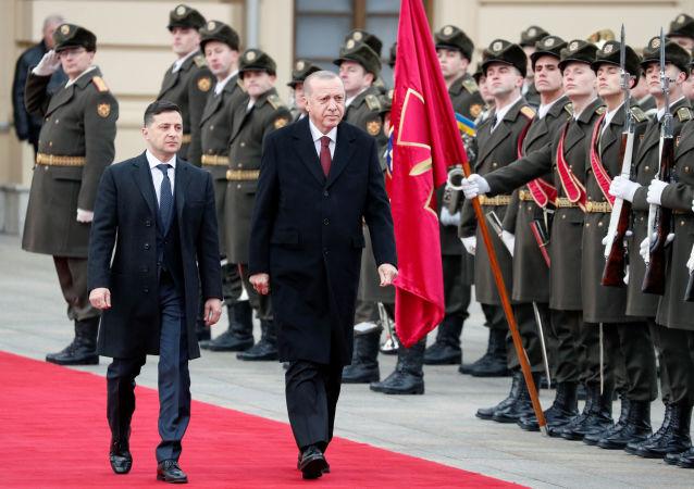 الرئيس رجب طيب أردوغان يصل كييف، أوكرانيا 2 فبراير 2020
