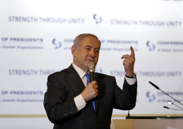 رئيس حكومة تسيير الأعمال الإسرائيلية بنيامين نتنياهو