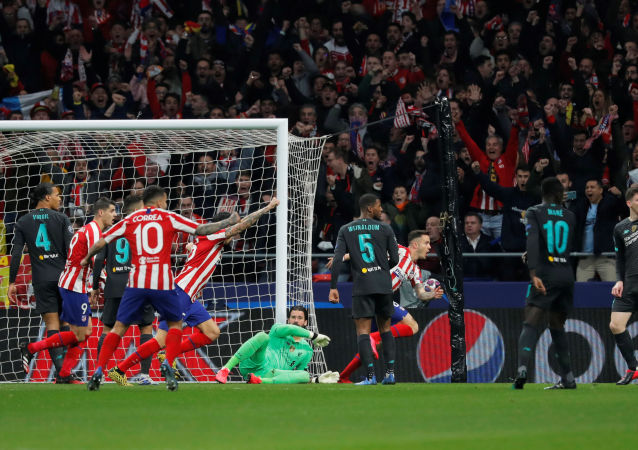ليفربول وأتليتكو مدريد في دوري أبطال أوروبا