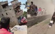 انهيار مبنى على المشاة في الهند